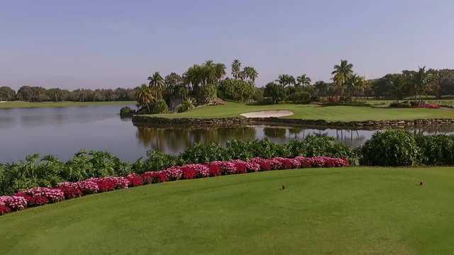 A view from a tee at The Falls Club of the Palm Beaches