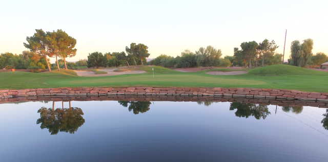 View of the 17th hole at Stallion Mountain Golf Club