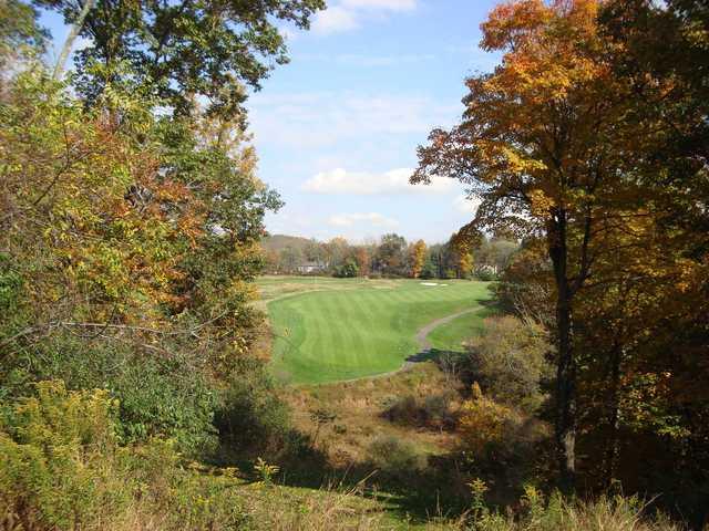 View of a green at High Bridge Hills Golf Club