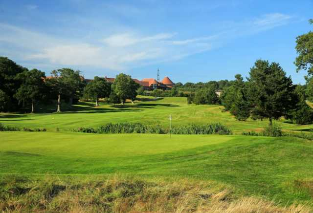 A view of hole #1 at East Course from East Sussex National.