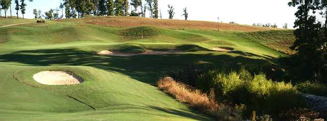 A view of green #8 at WindRiver Golf Course.