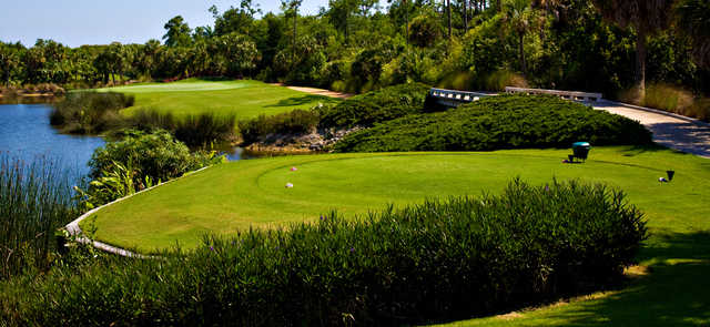 A view from a tee at Estuary Golf Course from Grey Oaks Country Club.