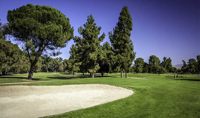 A view of a hole at Balboa from Sepulveda Golf Complex.