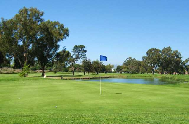 A view of hole #15 at The Earl Fry North Course from Corica Park.
