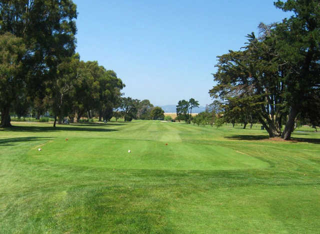 A view of the 13th tee at The Earl Fry North Course from Corica Park.