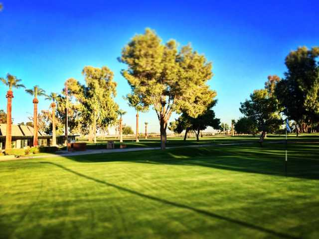 A view of a hole at Del Rio Country Club.