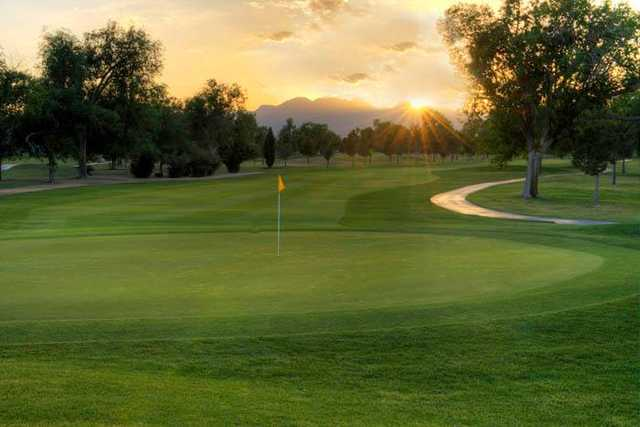 A view of the 7th green at Las Vegas Golf Club.