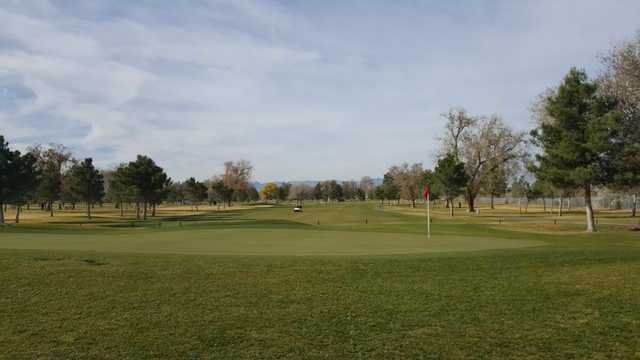 A view of a hole at Las Vegas Golf Club.