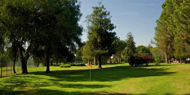 A view of a green at Rancho Park Par-3 Golf Course.