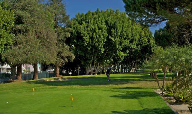 A view of the practice area at Rancho Park Par-3 Golf Course.
