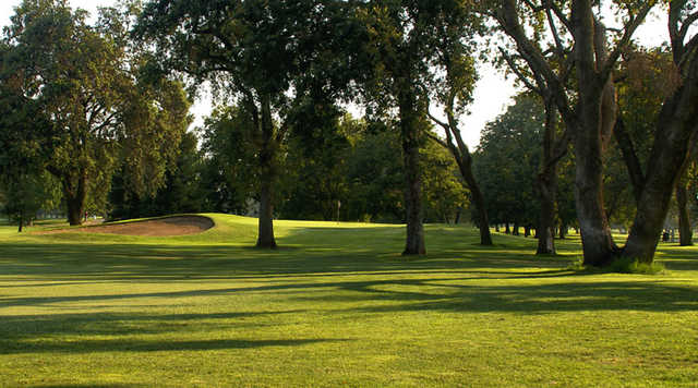 A view of a hole at Ancil Hoffman Golf Course.