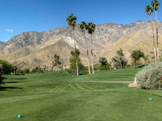 A view from tee #10 at South Course from Indian Canyons Golf Resort.