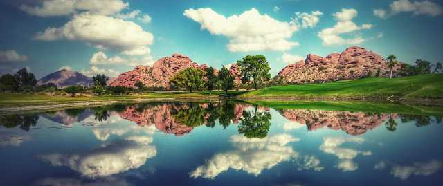 A view over the water from Papago Golf Course.