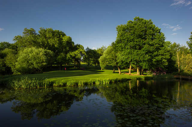 View of the 15th hole at The Hertfordshire Golf Club