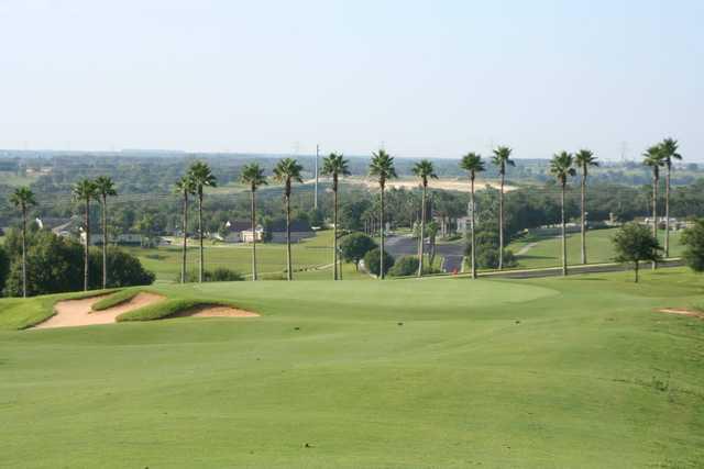 A view of a green at Sanctuary Ridge Golf Club.