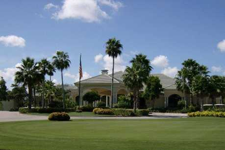 A view of the clubhouse at Cypress Woods Golf & Country Club