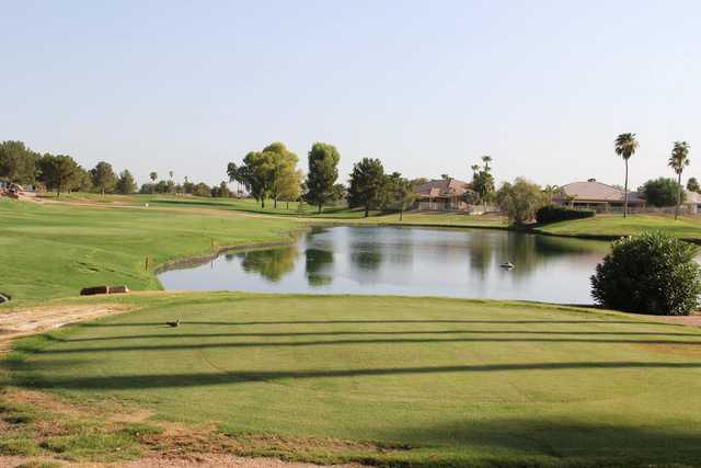 A view from a tee at Ironwood Country Club.