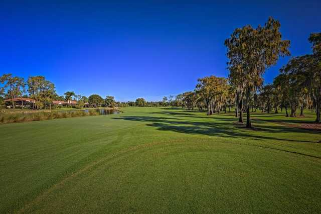 A view of the 18th fairway from East at Imperial Golf Club.