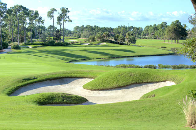 A view of the 1st hole at Old Palm Golf Club.