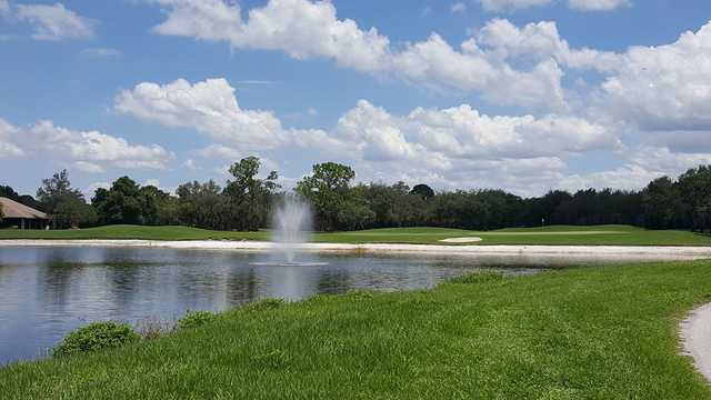A sunny day view of a hole at Sun 'n Lake Golf & Country Club.