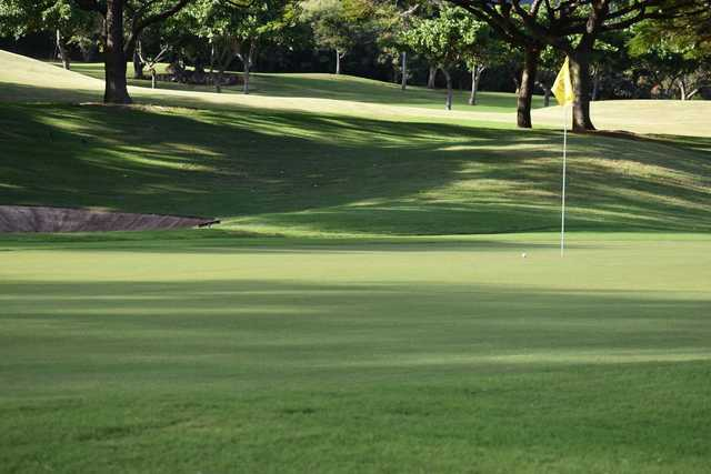 A view of a green at Kahili Golf Course.