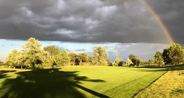 A view of a fairway at Deer Creek Golf Club.