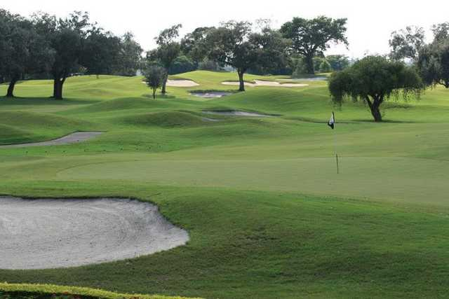 A view of the 18th green at Grande Oaks Golf Club