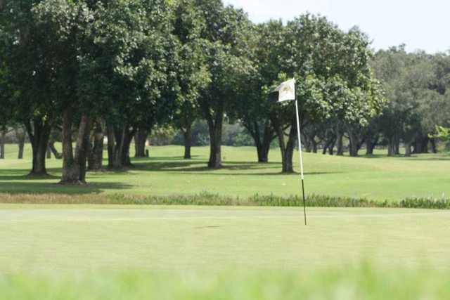 A view of green #7 at Grande Oaks Golf Club