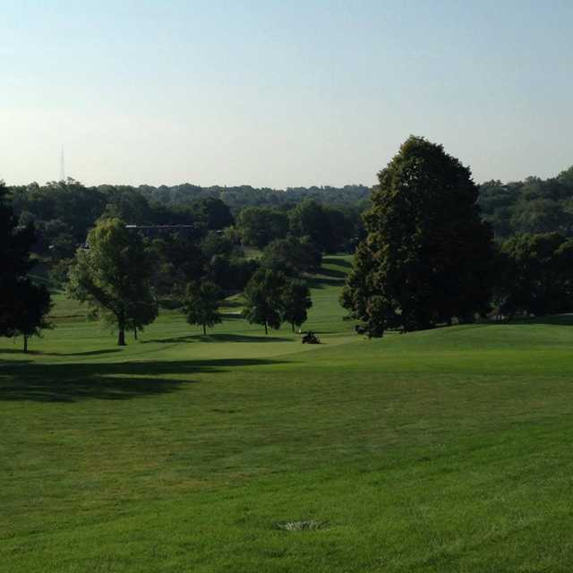 A view of a hole at Benson Park Golf Course.