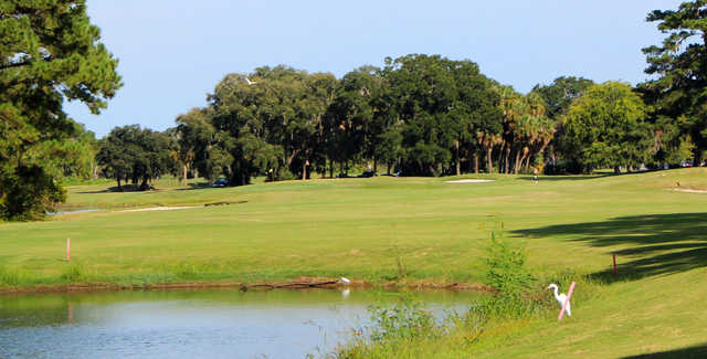 A sunny day view from Legends At Parris Island.