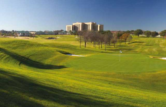 A view of a green at TPC Four Seasons from The Sports Club at Four Seasons Resort.