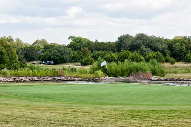 A view of a hole at Cowan Creek Golf Course.