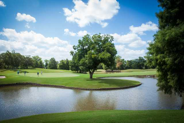 A view of a green at Sweetwater Country Club.