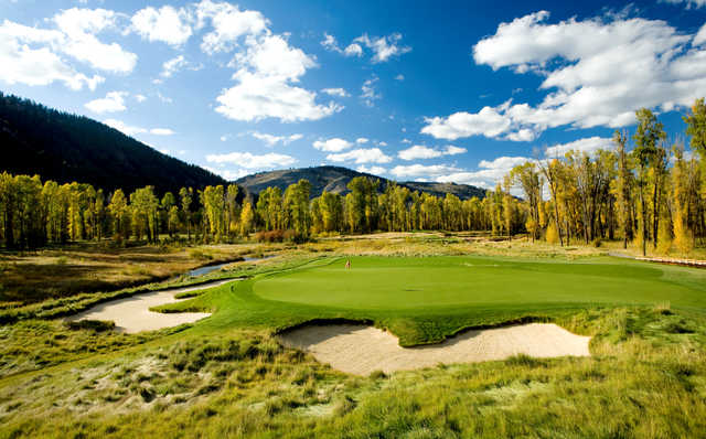 A view of hole #12 at Snake River Golf Course.