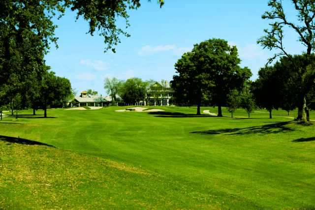 A view of a fairway at Riverhill Country Club.