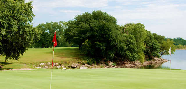 A view from a green at Starr Hollow Golf Club.