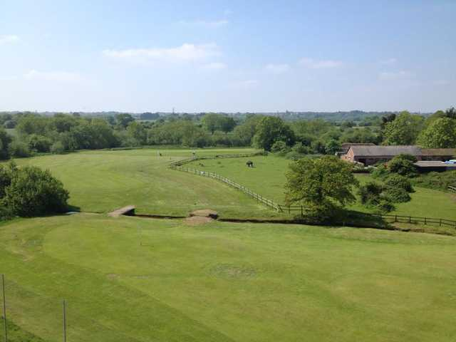 View of the 5th fairway at Parley Golf Centre