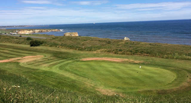 View of the 15th hole from Whitburn Golf Club