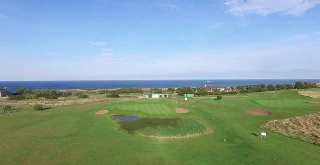 View of the 12th and 4th green from Whitburn Golf Club
