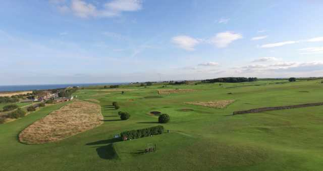 View of the 13th and 12th holes from Whitburn Golf Club