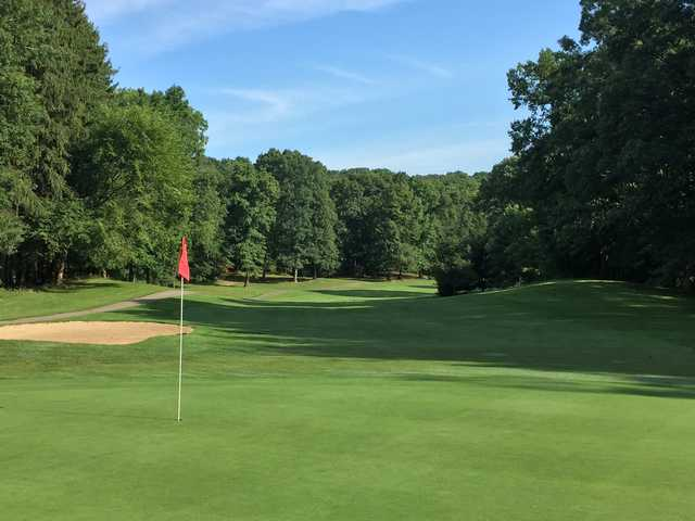 Looking back from the 18th green at Stony Creek Golf Course