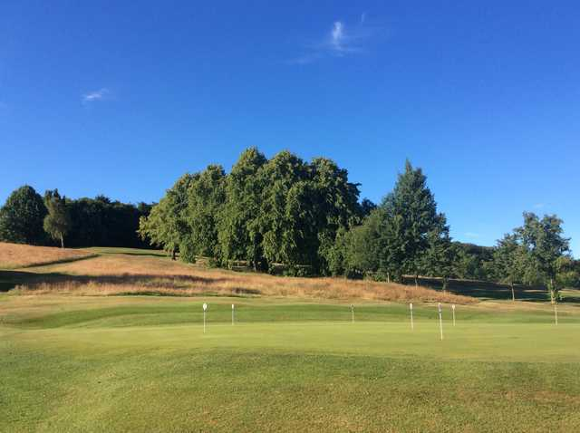 View of the putting green at Cowglen Golf Club