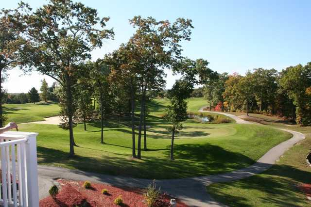 View of the finishing hole at Crystal Lake Golf Club