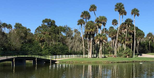A sunny day view from Daytona Beach Golf Club.