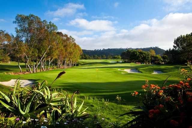 A view of the 10th green at Aviara Golf Club.