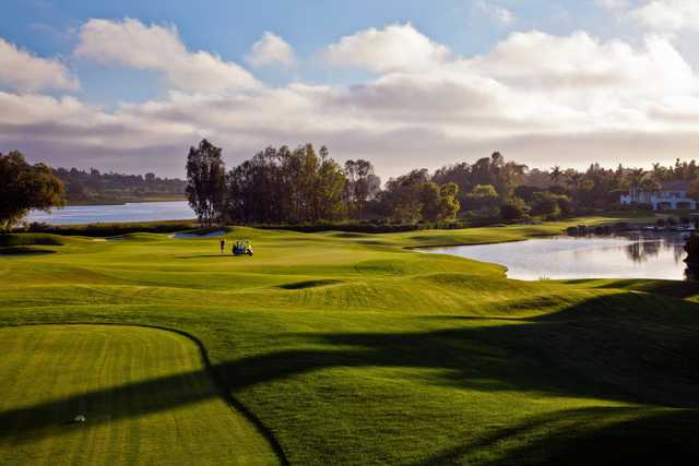 A view from the 18th tee at Aviara Golf Club.