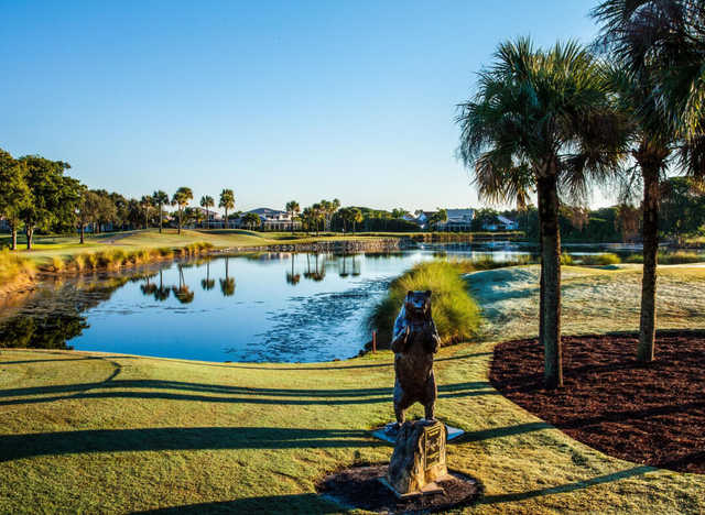 A view from tee #15 at Champion Course from PGA National Resort & Spa.
