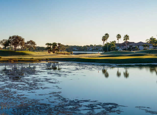 A view of hole #17 at Champion Course from PGA National Resort & Spa.