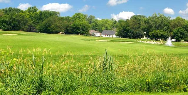 A view of a fairway at Water's Edge Golf Club.