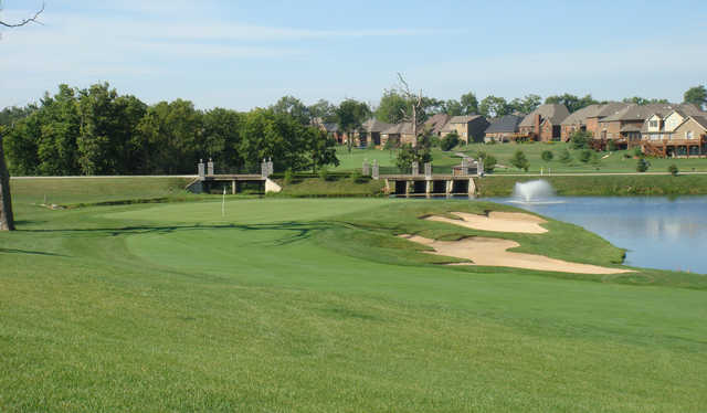 A view of a green at Cherry Blossom Golf Course & Country Club.